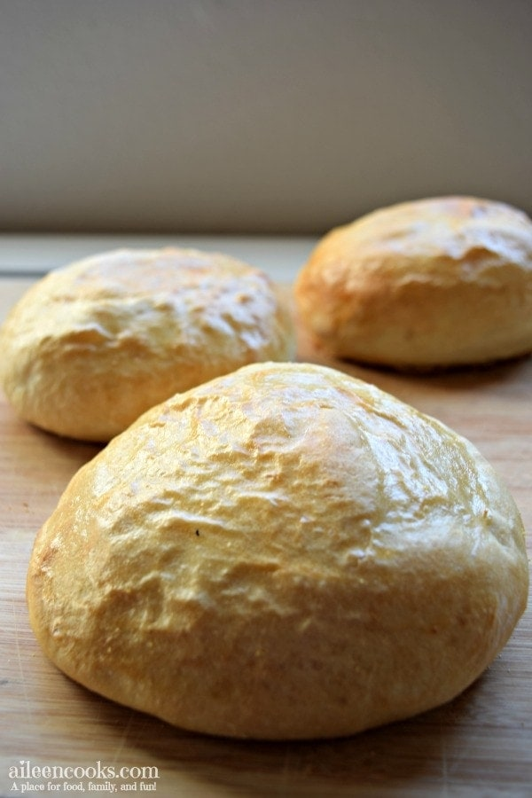 Fresh baked italian bread bowls are the best way to enjoy a comforting bowl of soup or chili on a cool night.
