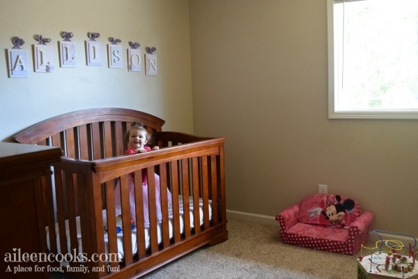 Small space nursery room reveal. Lavender and Pink nursery. Girls room reveal.