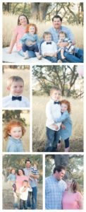 Fall family photos. 1 year old photo shoot. natural light photography. blue and light pink outfit ideas. family photo ideas. family photos color scheme. Photo Credit: Ashlee Lauren Photography.