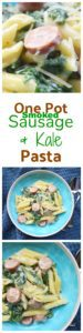 one pot sausage and kale pasta. I made this 20 minute meal tonight and it was a big hit - all three of my kids loved it and that never happens! #EverydayEckrich #OnePotMeal #Pasta #comfortfood #AD @Eckrich
