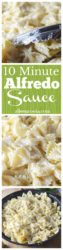 10 minute alfredo sauce. With just a few simple ingredients, you will have restaurant quality alfredo sauce ready in just 10 minutes. Get your favorite pasta or pizza ready!
