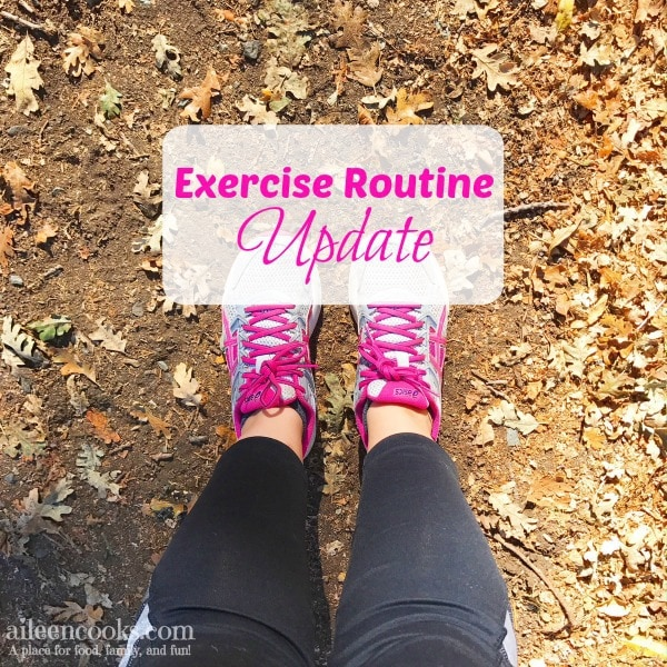 """Stay at home mom exercise routine update. How I""""m fitting in time to exercise with 3 kids 5 and under."""