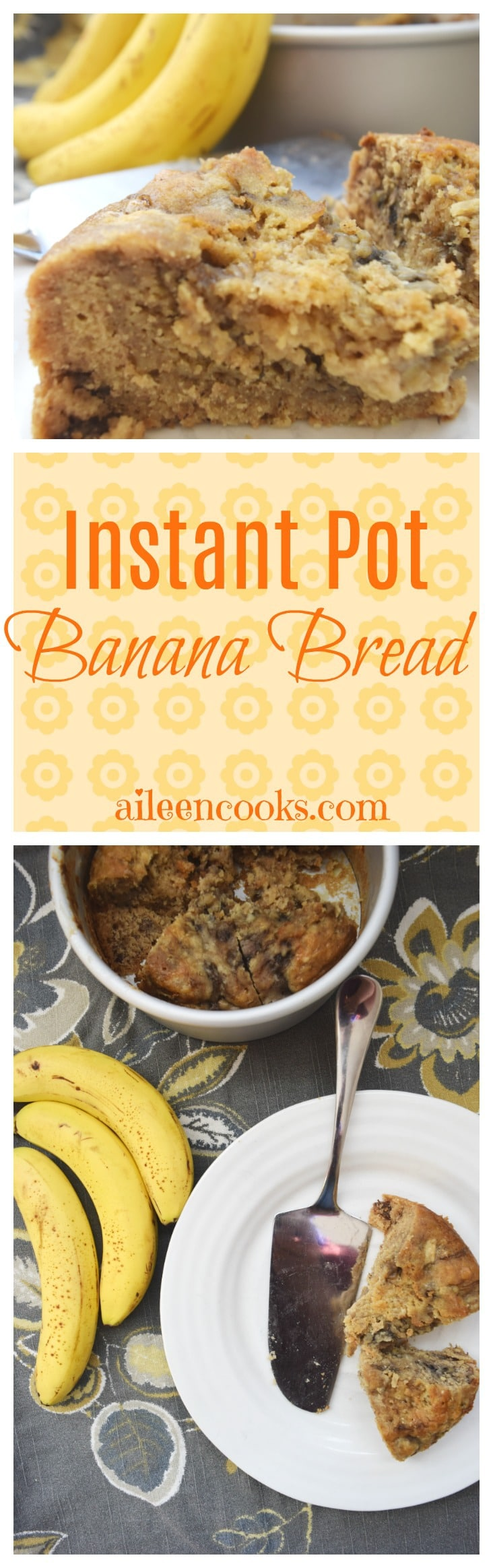 Yes you can make banana bread in your Instant Pot! Learn how with this step-by-step tutorial.