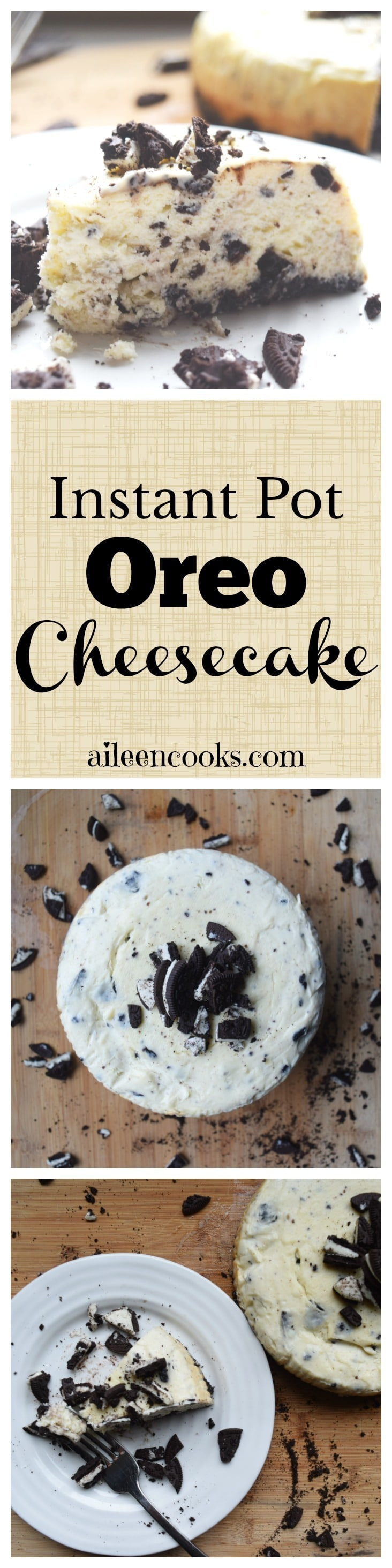 I made this oreo cheesecake in my instant pot and it was so good! If you have a pressure cooker, then you need to try this recipe for instant pot Oreo cheesecake. This is the perfect sweet dessert recipe to make in your instant pot!
