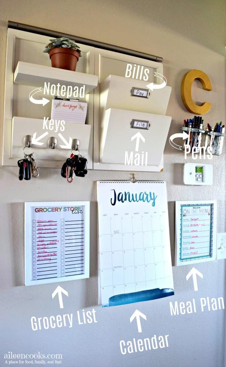 Diy Command Center Wall For Busy Moms Aileen Cooks