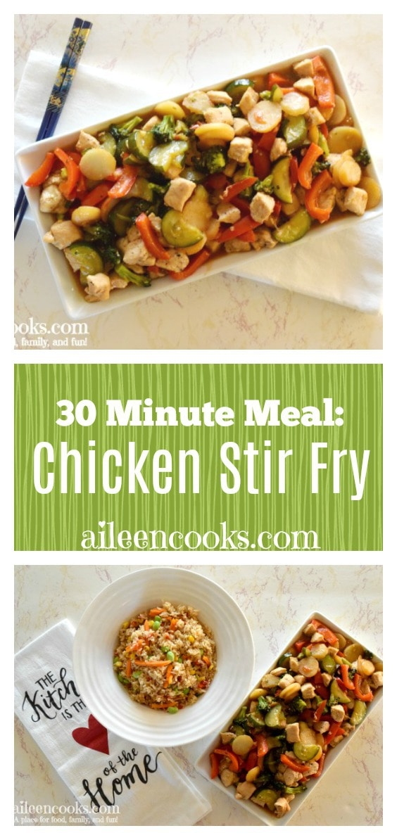 Make Chinese take-out at home with this easy 30-minute meal for chicken stir-fry!