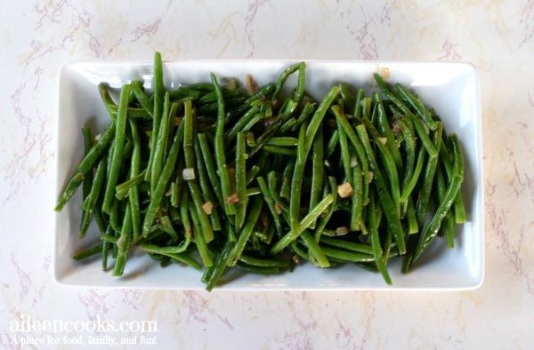 green-beans-shallots-white-platter