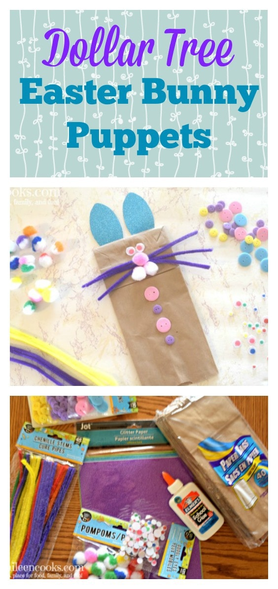 Celebrate Easter with this fun and easy to make paper bag bunny puppet. All of the materials used for this Easter bunny craft were purchased at my local Dollar Tree. I spent less than $10 on this craft and have leftover supplies for future projects. We also shared some of our favorite Easter bunny books to pair with this fun preschool craft!