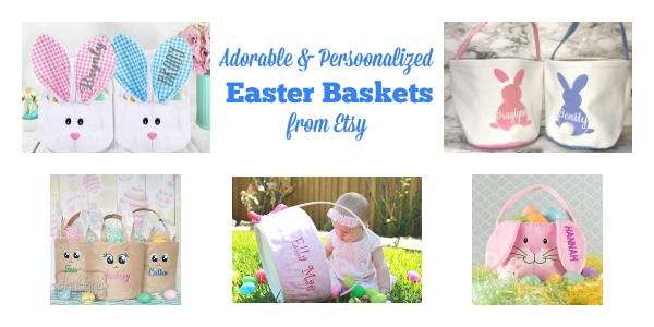 11 adorable personalized easter basket ideas from etsy aileen cooks personalized easter baskets buckets etsy negle Images