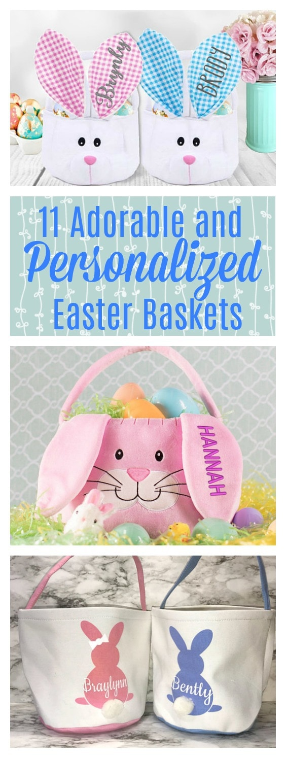 These Easter baskets from Etsy are so cute! I love how easy it is to get personalized Easter baskets for our kids. They are so lucky!
