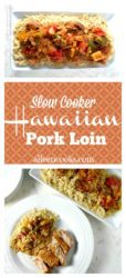Sliced hawaiian pork loin and rice