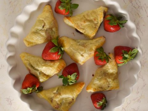 Strawberry Nutella Turnovers in Tart Pan