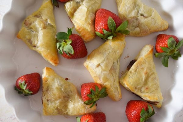 Strawberry Nutella Turnovers with fresh Strawberries