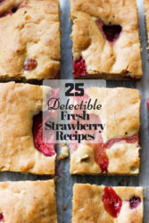The ultimate list of fresh strawberry recipes featuring strawberry cheesecake bars