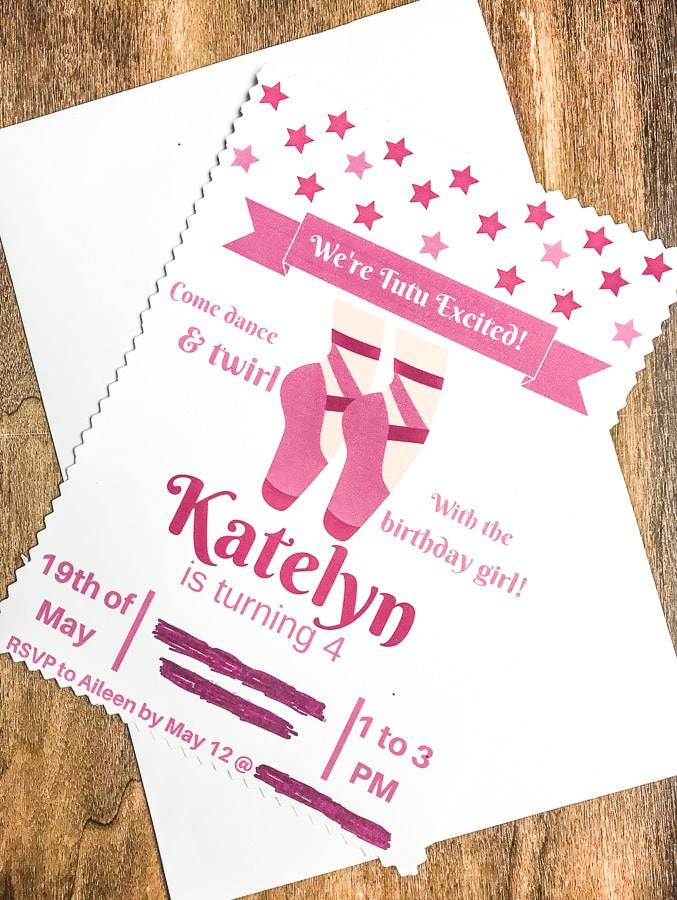 ballerina birthday party invitation - you are tutu invited!