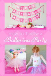 An inside look at ourballerina birthday party: simple solutions for food, decorations, birthday girl outfit, and activities. We've got everything you need to host your own ballerina party!