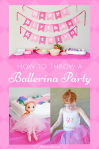 An inside look at our ballerina birthday party:  simple solutions for food, decorations, birthday girl outfit, and activities. We've got everything you need to host your own ballerina party!