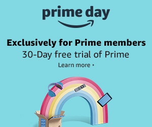 Amazon prime day 2018 banner with rainbow
