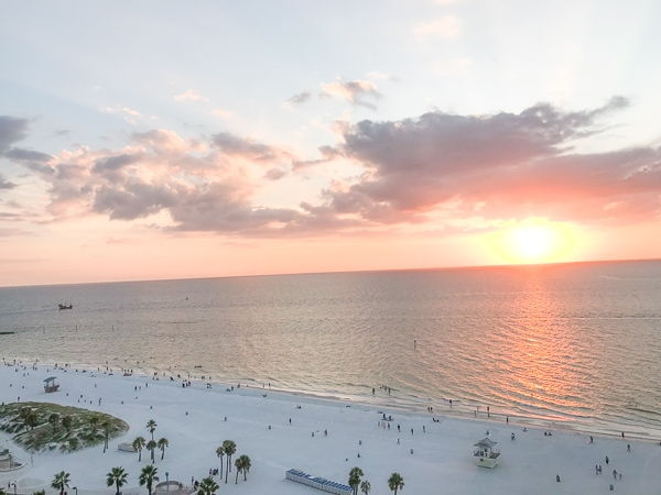 Sunset on Clearwater Beach.