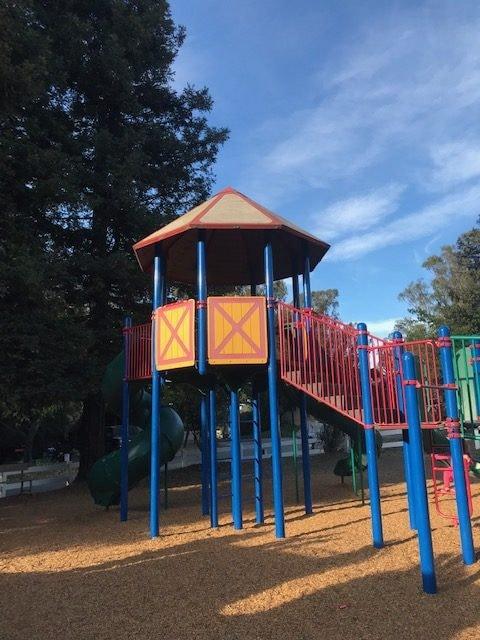 The playground at Petaluma KOA.