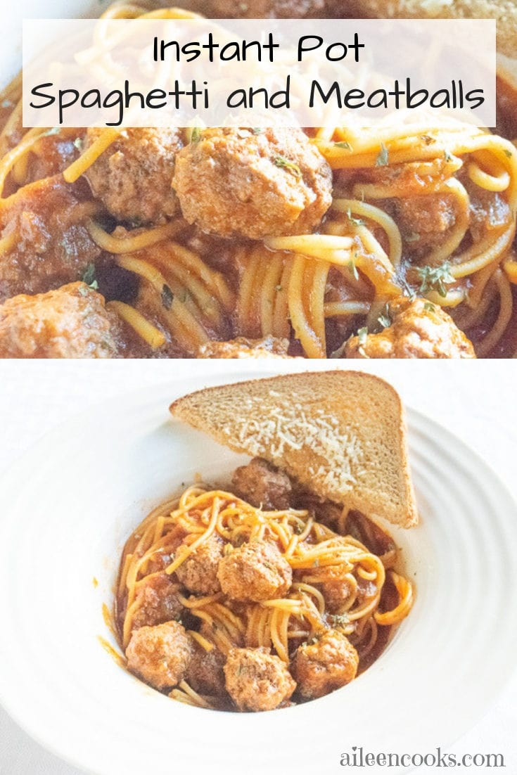 Are you looking for the best instant pot spaghetti and meatballs recipe? Look no further than this easy recipe that includes made-from-scratch meatballs!