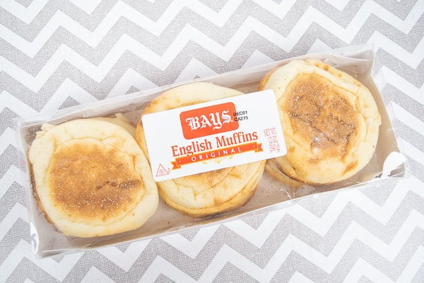 A box of Bays English Muffins.