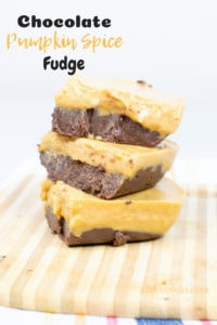 Whip up a batch of this chocolate pumpkin spice fudge for your next party or Sunday dinner. The best part? You can make it in the microwave!