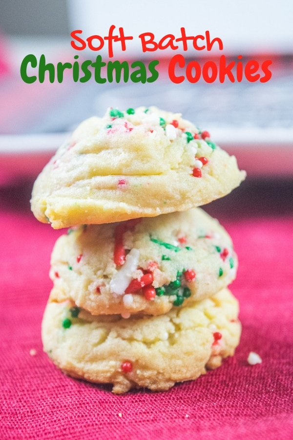 You don't want to miss these soft baked sprinkle pudding cookies. They are perfectly sweet vanilla cookies loaded with two different kinds of Christmas sprinkles.