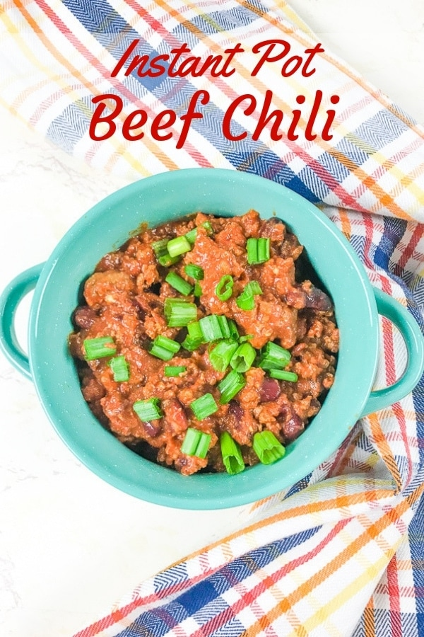 Wow your friends and family with this hearty instant pot beef chili recipe. It's robust flavor will make you come back for seconds!