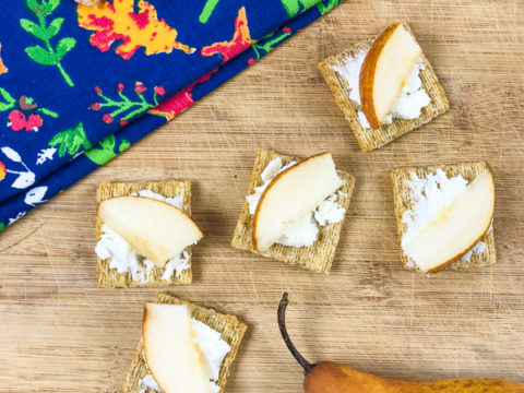 Pear & Goat Cheese Appetizers