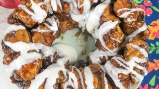 Instant Pot Monkey Bread with Vanilla Icing