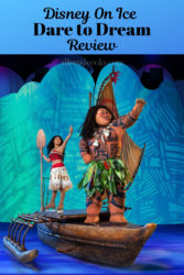 Moana and Maui in the Disney on Ice Dare to Dream show.