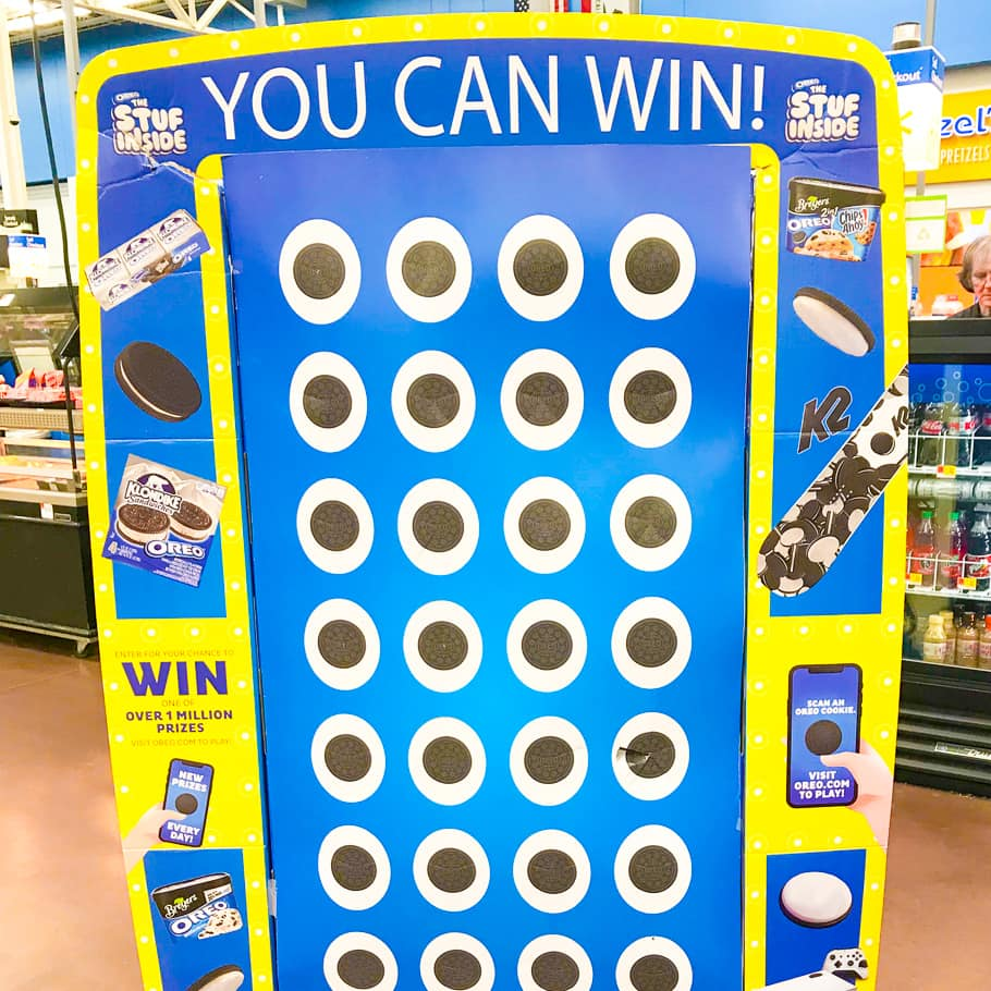 You can win game at OREO Stuf Inside event.