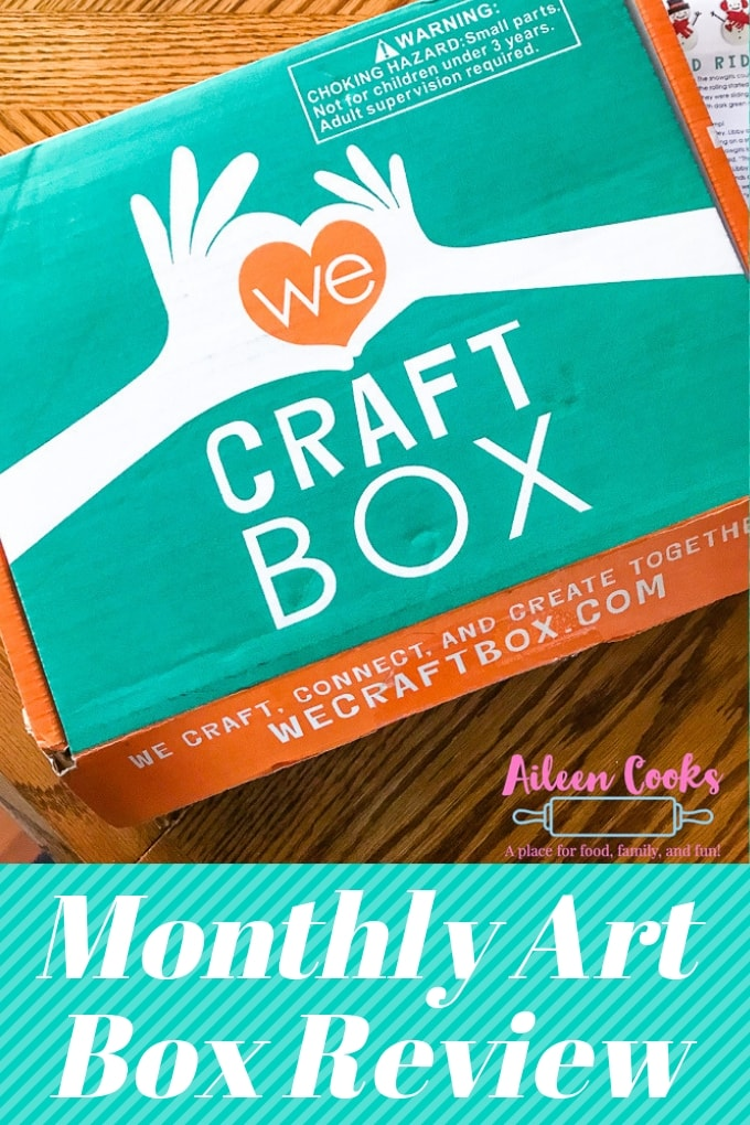 We Craft Box on a wooden table.