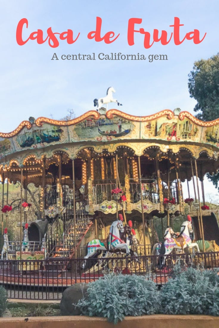 A close up of the carousel at Casa de Fruta.