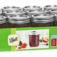 Ball Mason 8oz Quilted Jelly Jars with Lids and Bands, Set of 12