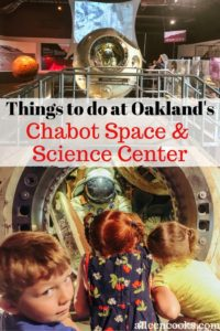 """Two pictures of a Russian space module with the words """"Things to do at Oakland's Chabot Space & Science Center"""