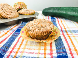 Chocolate Chip Zucchini Muffins with Streusel Topping