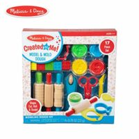Melissa & Doug Created by Me! 17-Piece Model and Mold Modeling Dough Kit (4 Tubs Dough and Tools)