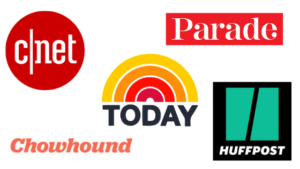 Aileen Clark as soon on these media outlets: CNET, Parade, Today, Huffpost, Chowhound
