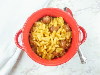 Instant Pot Kraft Mac and Cheese with Hot Dogs