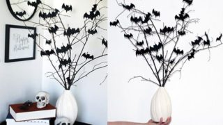 Easy Bat Bouquet Halloween DIY Decor