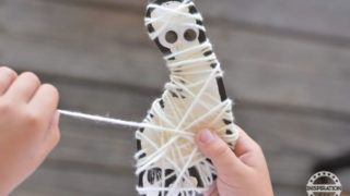 Halloween Art Projects Mummy String Art