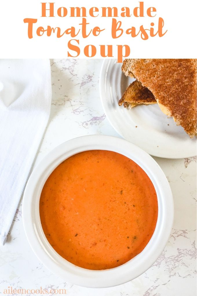This creamy tomato basil soup recipe is better than any boxed or canned tomato basil soup variety you will ever make! It's a rich and creamy tomato soup with just the right amount of kick!