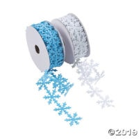 Snowflake Die-Cut Ribbon Rolls - 1