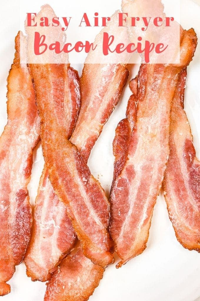 You are going to love this air fryer bacon recipe! Bacon in an air fryer comes out perfectly crisp around the edges with a chewy center. It is so good that you may not want cook bacon any other way again!