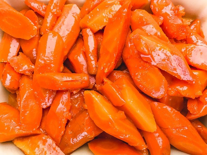 A close up of instant pot carrots.