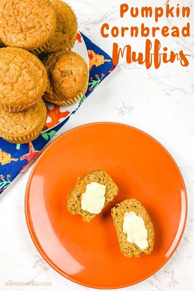 Make these tasty pumpkin cornbread muffins as a special snack or to pair with a hearty soup or chili. We love this fun spin on pumpkin cornbread!