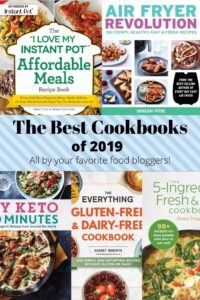 Collage photo of cookbook covers