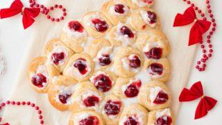Christmas Tree Cream Cheese Danish Easy Last Minute Breakfast Recipe